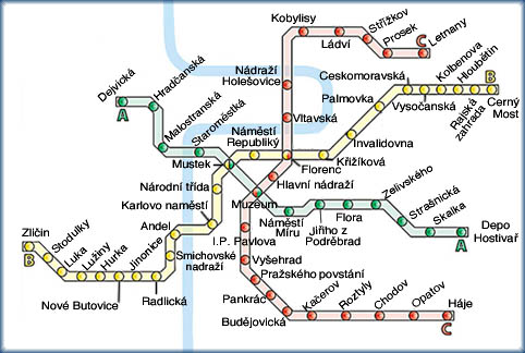 Prague Metro Map Pdf.Images And Places Pictures And Info Prague Metro Map
