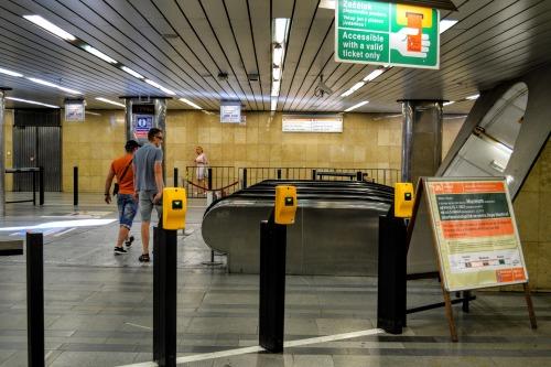 Prague metro ticket zone