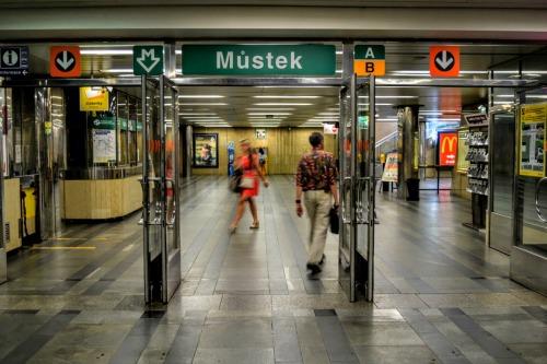 Prague metro station Mustek