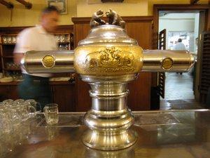 Beer tap at U Medvidku