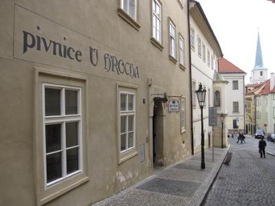 U Hrocha pub Prague