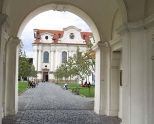 Brevnov Abbey Entrance