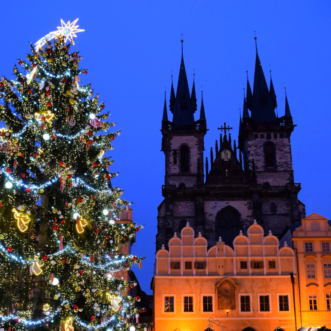 Christmas tree in Old Town Prague