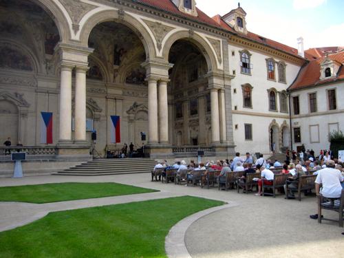 Free concert in Wallenstein Garden