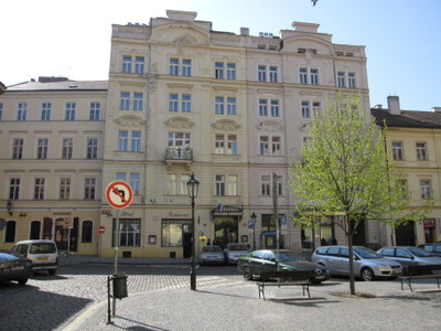Hastal hotel Prague exterior from square