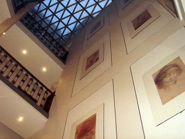 Hotel Da Vinci Prague atrium inside