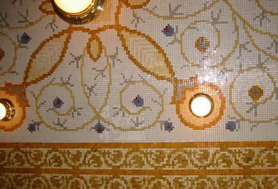 Imperial Hotel Prague cafe ceiling