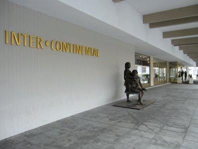 Intercontinental hotel Prague lobby entrance