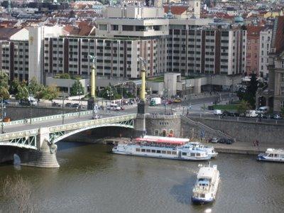 Intercontinental Hotel Prague seen from Letna