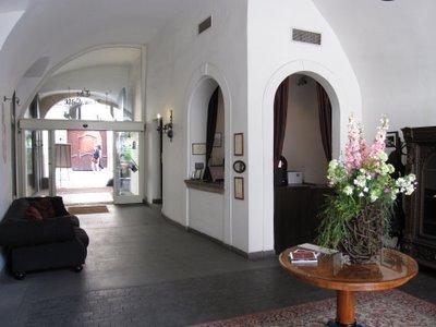 Iron gate hotel Prague reception desk