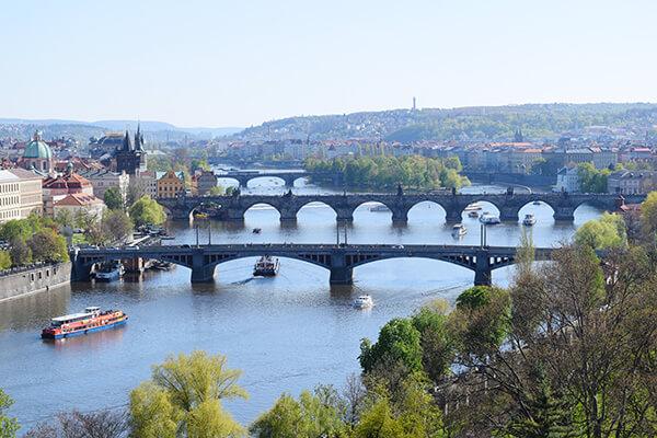 Vltave river view