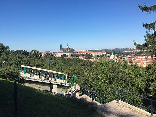Prague castle view from Petrin park