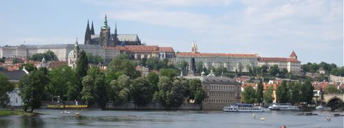 Prague Castle from Vltava River