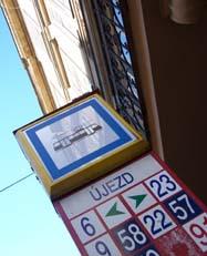 tram sign in Prague