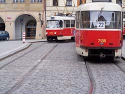 Prague tram streetcar