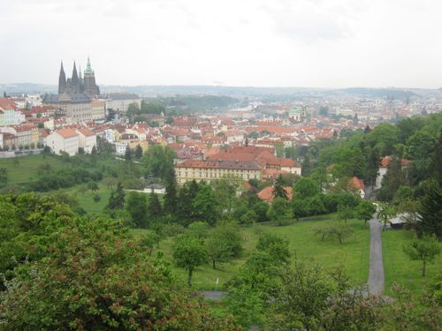 Prague Castle from Strahov monastery