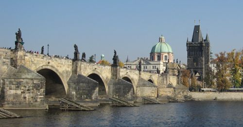 charles bridge from kampa
