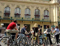 Prague bike tour group