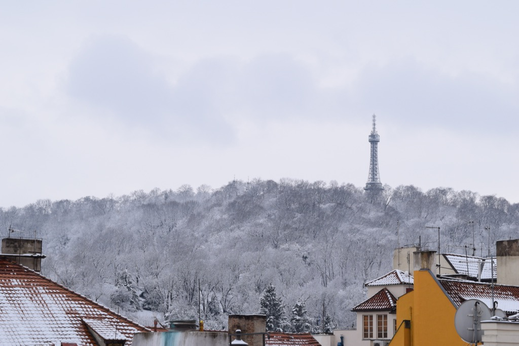 Petrin hill in snow