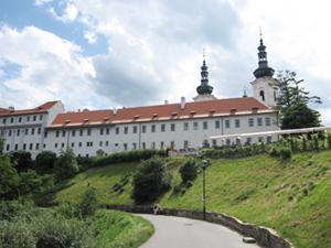 strahov monastery from petrin park