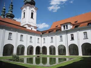interior courtyard at strahov monastery