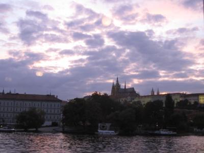 Evening Sky with Prague Castle