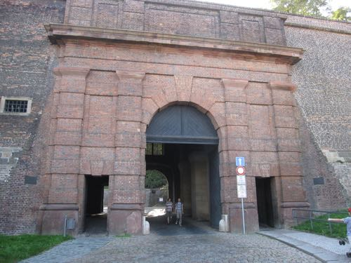 Vysehrad castle gate
